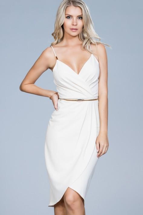 Overlap Belt Dress
