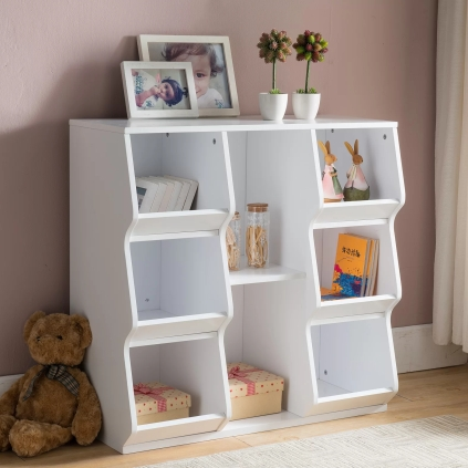 8+Shelf+Cube+Unit+Bookcase