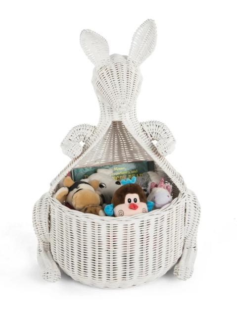 Kangaroo+Wicker+Storage+Basket
